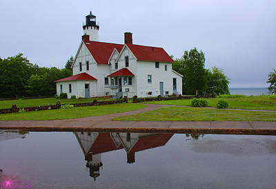 Photograph - Point Iroquois Lighthouse by Michael Rucker