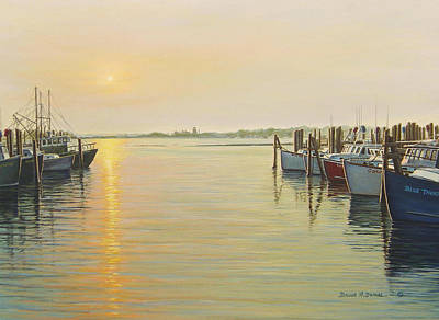 Point Judith Harbor Art Print by Bruce Dumas