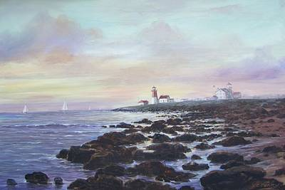Painting - Point Judith Light R I by Perrys Fine Art