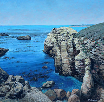 State Natural Area Painting - Point Lobos California by Rudolph J Miller
