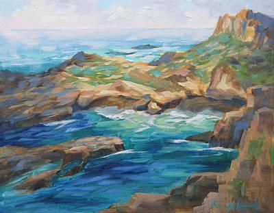 Point Lobos Cove Original by Karin Leonard
