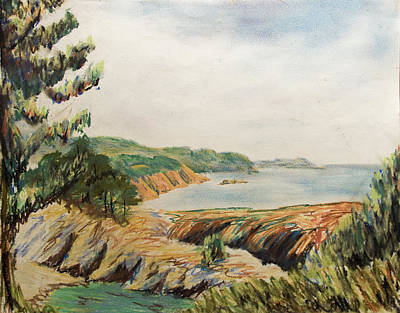 Pastel - Point Lobos by Don Perino