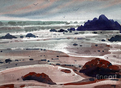Point Lobos Painting - Point Lobos by Donald Maier
