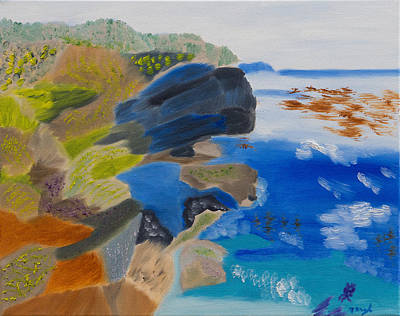 Cliffs Of Point Lobos Ca Art Print