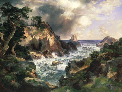 Point Lobos Monterey California Art Print by Thomas Moran