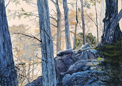 Painting - Point Lobos Morning by Bill Hudson