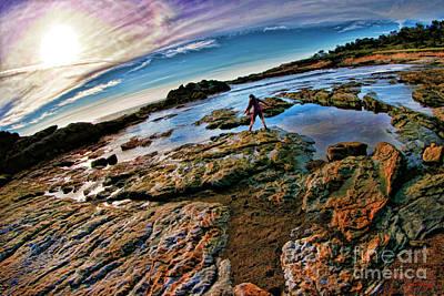 Photograph - Point Lobos Purple Sea Girl by Blake Richards