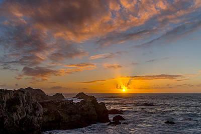 Photograph - Point Lobos Sunset by Derek Dean