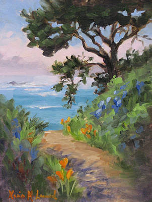 Point Lobos Painting - Point Lobos View by Karin Leonard