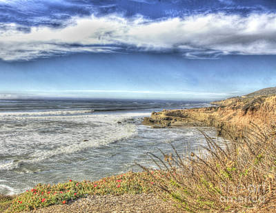 Point Loma In Hdr Art Print by Lisa Top