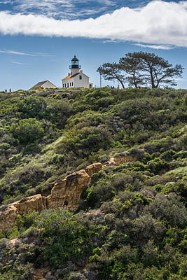 Park Mixed Media - Point Loma Lighthouse - California Coast Photograph by Duane Miller