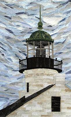 Tapestry - Textile - Point Loma Lighthouse by Loretta Alvarado