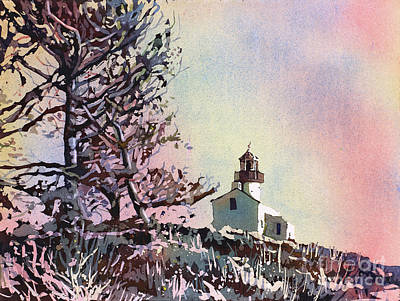 Painting - Point Loma Lighthouse- San Diego by Ryan Fox