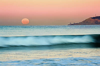 Photograph - Point Loma Moonset by Dan McGeorge
