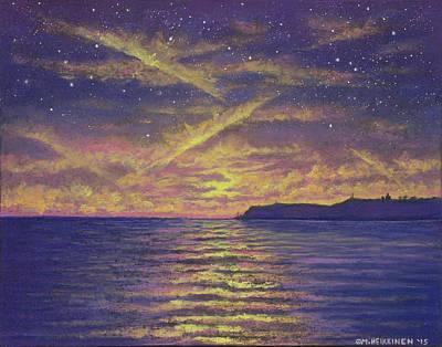 Pastel - Point Loma Sunset 01 by Michael Heikkinen