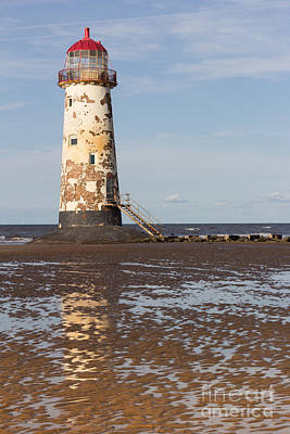 Point Of Ayr Lighthouse Print by Kathryn Bell