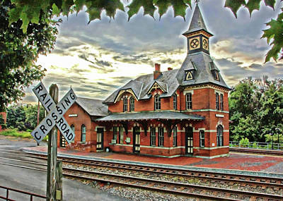 Point Of Rocks Train Station Art Print