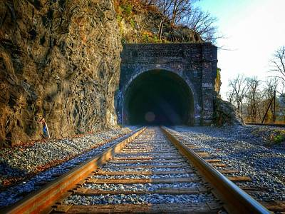 Photograph - Point Of Rocks Train Tunnel by Ryan Shapiro
