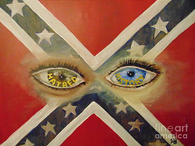 Art Print featuring the painting Point Of View by Saundra Johnson