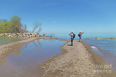 Photograph - Point Pelee Photogs by Ann Horn