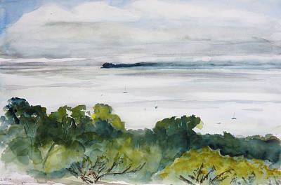 Painting - Point Pinole From China Camp State Park by Tom Simmons
