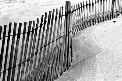 Photograph - Point Pleasant Dune Fence by John Rizzuto