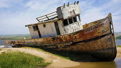 Point Reyes Abandoned Ship Art Print