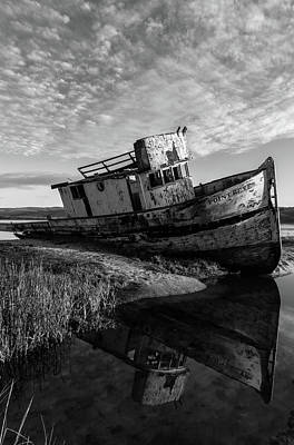 Photograph - Point Reyes And Its Reflection Bw by Jonathan Nguyen