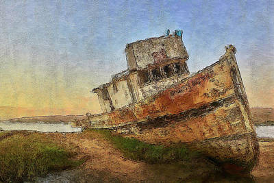 Digital Art - Point Reyes Boat by Jon Glaser