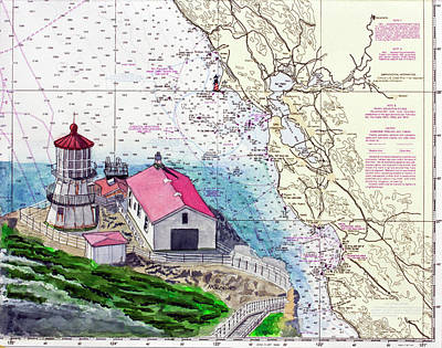 Painting - Point Reyes Light Station by Mike Robles