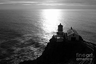Photograph - Point Reyes Lighthouse - Black And White by Carol Groenen