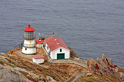 Edge Photograph - Point Reyes Lighthouse Ca by Christine Till