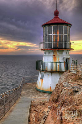 Photograph - Point Reyes Lighthouse by Eddie Yerkish