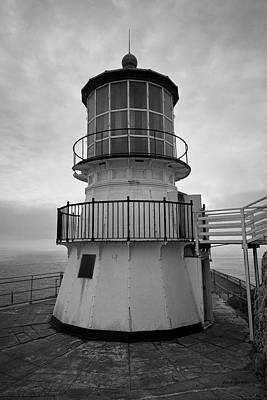 Photograph - Point Reyes Lighthouse I Bw by David Gordon