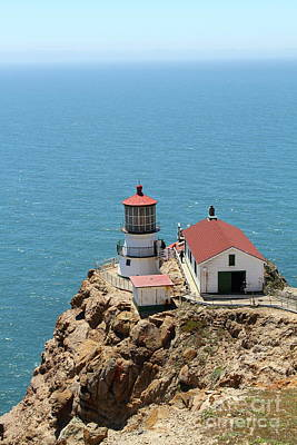 Photograph - Point Reyes Lighthouse In California 7d15989 by San Francisco