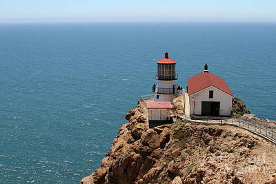 Photograph - Point Reyes Lighthouse In California 7d15994 by San Francisco