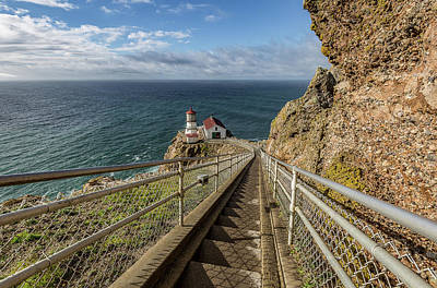 Photograph - Point Reyes Lighthouse Stairs by Donnie Whitaker