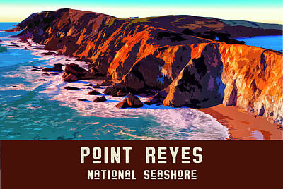 Digital Art - Point Reyes National Seashore by Chuck Mountain