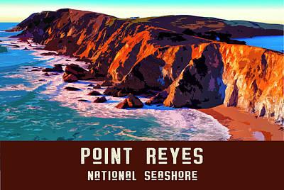Digital Art - Point Reyes National Seashore by Chuck Mountain