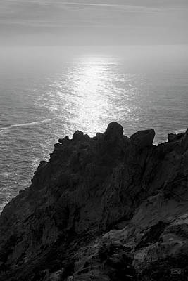 Point Reyes Seascape I Bw Art Print by David Gordon