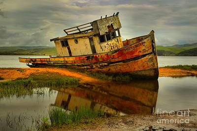 Photograph - Point Reyes Shipwreck by Adam Jewell