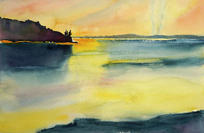 Painting - Point San Pedro Looking North by Tom Simmons