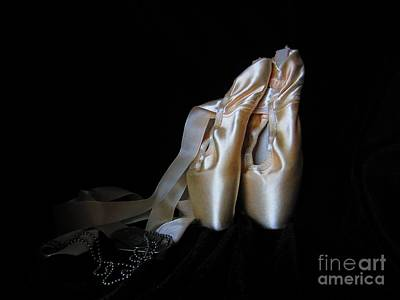 Pointe Shoes Photograph - Point Shoes And Dog Tags by Laurianna Taylor