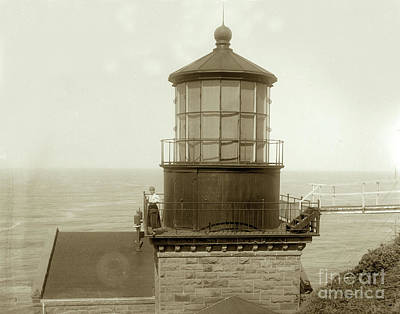 Photograph - Point Sur Lighthouse Tower.  Big Sur Circa 1900 by California Views Mr Pat Hathaway Archives