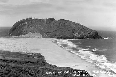 Photograph - Point Sur Light Station Circa 1939 by California Views Mr Pat Hathaway Archives