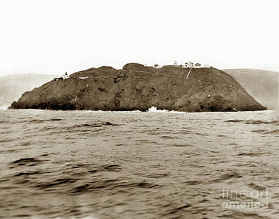 Photograph - Point Sur Light Station From The Ocean Feb. 21, 1935 by California Views Mr Pat Hathaway Archives
