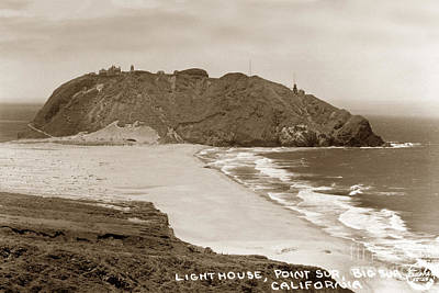Photograph - Point Sur Lightstation  Sits 361 Feet Above The Pacific Ocean Su by California Views Mr Pat Hathaway Archives