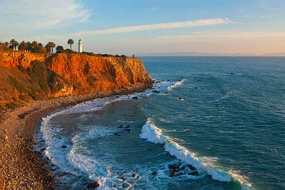 Point Vicente Lighthouse Palos Verdes California Art Print by Ram Vasudev