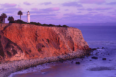 Art Print featuring the photograph Point Vicente Lighthouse - Point Vicente - Orange County by Photography By Sai
