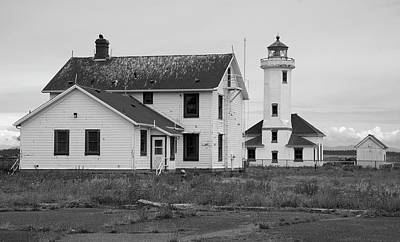 Photograph - Point Wilson Lighthouse 2 by Richard J Cassato